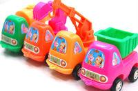 50pcs/lot Free shipping,Children's plastic toys Pull back car Tanker, truck ,crane ,excavator car model,kids educational toy