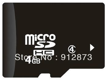 4GB Micro SDHC (TF)Storage card Class4 Wholesale Micro SDHC card Mobile phone Universal
