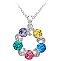 A278 Woman Fashion Jewelry Crystal Anadem Metempsychosis Pendant Necklaces