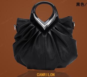 Free shipping evening bags women Genuine Leather Shoulder Messenger bag women's handbag vintage casual cowhide women's bags