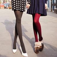 Spring and autumn stripe velvet pantyhose socks stockings thick legging socks all-match female socks