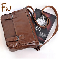 Casual male bag messenger business briefcase leather butter commercial  for ipad   laptop bag genuine leather man bag free ship