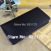 Male genuine leather clutch medium-long wallet fashion zipper bag card holder genuine leather multifunctional clutch