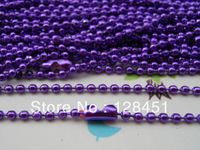 Free shipping 50 pcs Purple Ball Chain Necklaces - 27inch, 2.0 mm