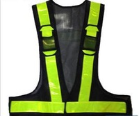 Free shipping LED traffic warning reflective safety vest rescue fire fighting Sales promotion