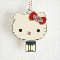 TRUE100% Flash Memory Best Selling Jewelry usb flash drive HOT Usb 2.0 2gb 4gb 8gb 16gb Usb Pendrive hello kitty