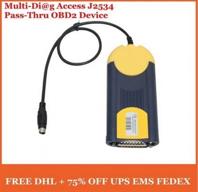 Latest Version V2011 Multi Diag Access J2534 Pass-Thru OBD2 Device Resolved NO VCI FOUND Problem MultiDiag J2534 ECU Programmer(China (Mainland))