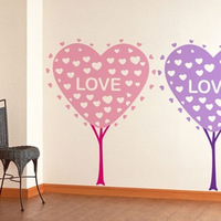 Love tree wall stickers wallpaper w0167 17