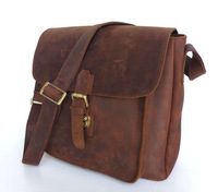 Vintage Genuine real leather  Men buiness handbag  laptop briefcase  shoulder Travel bag  / man  messenger  bag  JMD6091-330