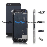 OEM quality :5G full housing for iphone 5 Middle frame board with back cover Black /white 100% Gurantee Shipped by DHL