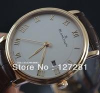 Blancpain ultra-thin rose gold needle mechanical mens watch 6651-3642-55b