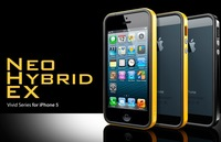 Newest  SPIGEN SGP Neo Hybrid EX Vivid Series For IPhone 5 5G bumper+Original Box Free Shipping wholesales