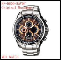 free shipping CAS* EF-560D-5AVDF men stainless steel watches quartz watch EF-560D-5A waterproof 100M