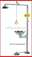 Stainless Steel Foot treadle eyewash station &eyewash shower