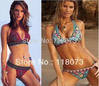 2014 sexy pattern floral print bikini set vintage retro biquinis swimsuit swimming wear suits