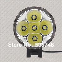 Free shipping 1set 5x CREE LED XML XM-L T6 LED 7000Lm Bicycle Light HeadLight Headlamp 8.4V 6400mAh +Charger
