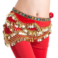 Separate belly dance belly chain 338 huazhung belly dance diamond belt gold coin belly chain  dance clothes