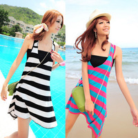 Travel beach dress tube top bikini