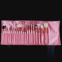 Pro 20Pcs Pink Soft Cosmetic Makeup Eyeshadow Brushes Tools Goat Hair Set + Pink PU Bag Case Free Shipping