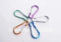 5000pcs/lot Hoist shape aluminium carabiner Mountaineering buckle Key Chain Hook 6CM 8colors