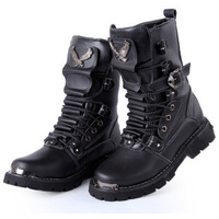 Fashion trend  mens high waterproof  mid calf  men motorcycle boots shoes 2014