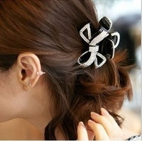 T027 hair accessory accessories rhinestone bow gripper banana clip