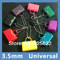 2013 NEW Lovely Candy Bag Creative Handbag 3.5MM Phone Dust Plug Anti Dustproof Stopper For Apple iPhone iPad/Samsung/HTC