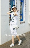2013 new style comfortable cotton women casual summer sports suits, sportswear free shipping