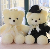 40cm BEAR teddy doll plush stuffed toy kt HELLO KITTY gift wedding bear doll freeshipping