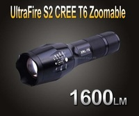 UltraFire CREE XML T6 5-Mode 1600 Lumen 18650/3xAAA LED Zoomable Flashlight Torch S2