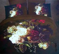 100% cotton 4pc modern bedclothes king queen 3D bedding set luxury duvet cover set