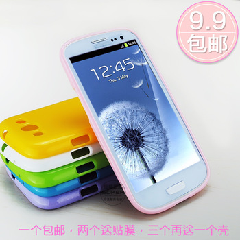 For samsung   s3 3 i9300 phone case cell phone case mobile phone case i9308 i9305 gossip silica gel protective case