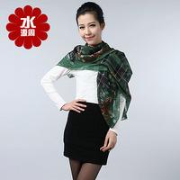 Scarf Women 2013 Summer 100% Pure Silk Scarf Mulberry Silk scarves Silk Screen Machine Facecloth Plus Size