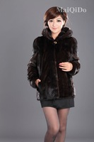 Meagan 2012 mink women's fur overcoat outerwear m0102 free shipping wholesale high quality