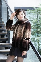 Quality 2011 fight mink fight mink fur coat marten overcoat m0142 free shipping wholesale high quality