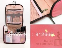 5pcs/lot Travel Organizer with hanger Waterproof Wash Bag Toiletry/ Comestic handbag vanity case Free Shipping