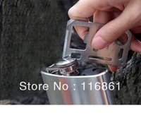30PCS EMS Free shipping Hot Sell Best 11 in 1 Emergency Survival Card Multi-Purpose Tool