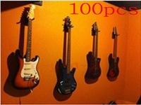 100PCS Guitar Wall Hanger / hooks / Holder / Stand / Rack / Hook for all guitar, Short hook +  Mounting screws  Free shipping