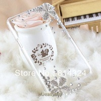 Fashion  shinning Diamond crystal rhinestone flower Hard Back Case For Samsung Galaxy S II i9100