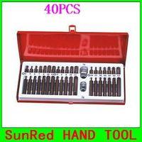 BESTIR taiwan made 40PCS S2 hex spline tox Bit Socket Set Bit Holder Professional industry Repair kits, NO.93101 freeshipping