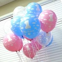 30cm  High quality, no harm to baby 1 year birthday Balloon, digital Balloon