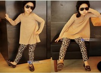 5pcs/lot 2013 new winter  kids  baby leggings leopard girl's top quality Legging