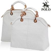 Fashion High Quality crocodile Genuine cow leather POLO Designer Brand women tote bag shoulder bag handbags with Beading chain