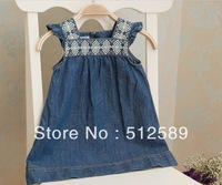 hot sale and new arrival baby girl jean dress   5pcs/lot 0031