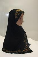 Muslim long Shawel with inner Cap Silk shawel new design islamic scarves Accept 8-15