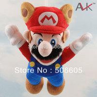 "wholesale  New Super Mario Bros Plush Toy 9"" Raccoon Tanooki Mario 1pcs"