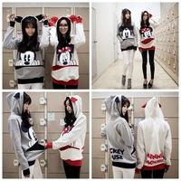 New 2014 Autumn Winter Animal Printing Sport Suit Women Hoody Cartoon Sweatshirt Hoodies Pullovers Coat