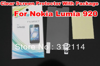 High Quality Clear LCD Screen Protector Film With Retail Package For Nokia Lumia 920 Free Shipping