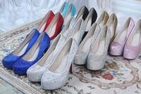 Free shipping 11cm /14 cm  women high heel shoes Crystal nightclub sexy shoes women fashion pumps 34-43
