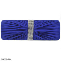 New Design! Free Shipping Wholesale And Retail Diamante Flannelette Pleated Design Party Bag Evening Bags 6Color/CB002